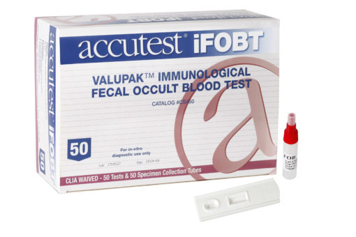 Accutest® ValuPak™ Immunological Fecal Occult Blood (iFOBT) Test