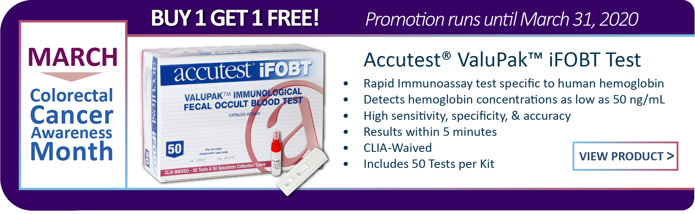 Buy One Get One iFOB Test Promo